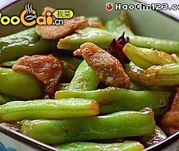 扁豆烧五花肉的做法