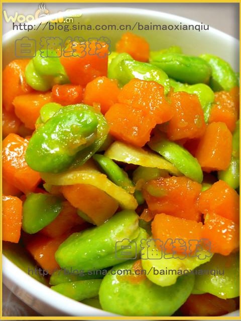 南瓜炒蚕豆的做法_【图解】南瓜炒蚕豆怎么做好吃