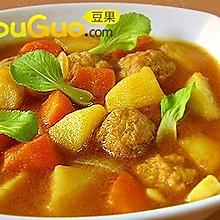 香味浓郁的咖喱肉丸汤