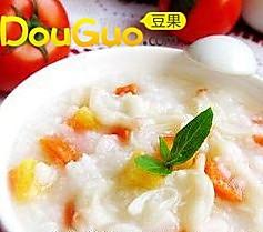 胡萝卜蛤蜊粥的做法