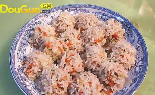 马蹄虾米珍珠丸子的做法