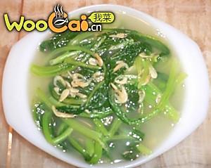 虾米皮春菜汤的做法