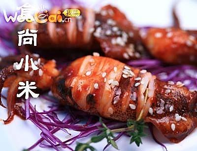 韩国辣酱烤鲜鱿鱼的做法