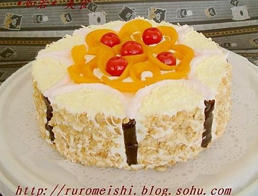 美丽厨娘-腰果黄桃威风蛋糕的做法