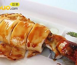 照烧鱿鱼酿香葱糯米 的做法