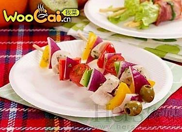 蔬菜串的做法