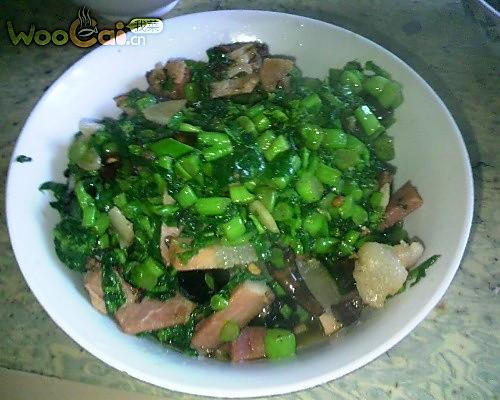 腊菜炒乡下老腊肉的做法