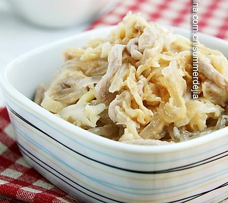 肉炒酸菜粉的做法