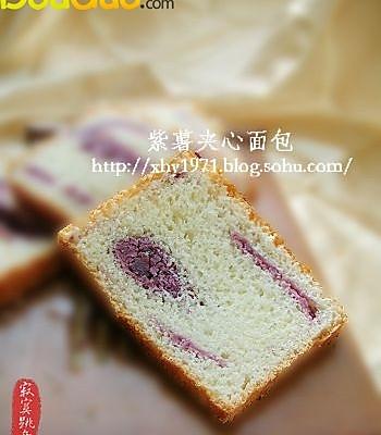 紫薯夹心面包的做法
