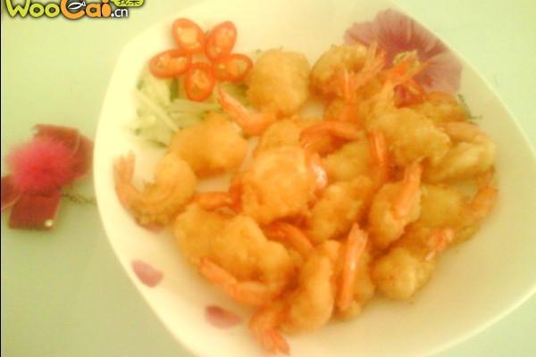 蛋酥虾的做法