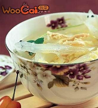 春节美味之鸡丝银鱼汤的做法