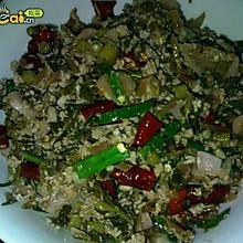黔菜出山——酸萝卜菜头炒肉末