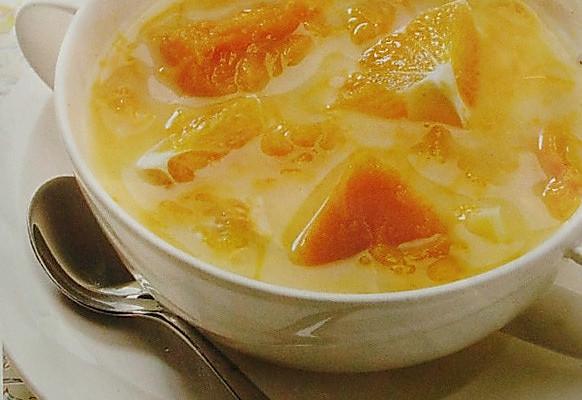 南瓜橙子浓汤的做法
