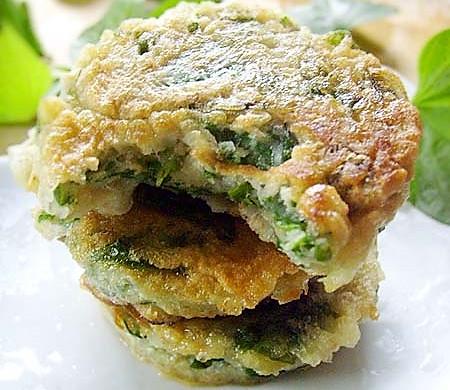 红薯叶也可以煎着吃------扯来的美味:薯叶鸡蛋全麦饼