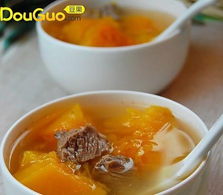 南瓜牛肉汤的做法