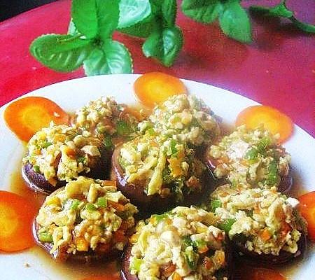 四味素酿香菇的做法