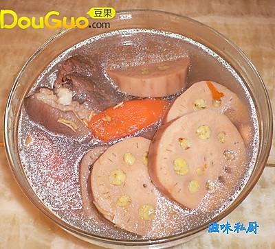 绿豆酿莲藕的做法