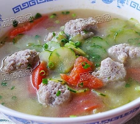 青瓜丸子汤的做法