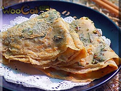 营养早餐 香椿煎饼的做法