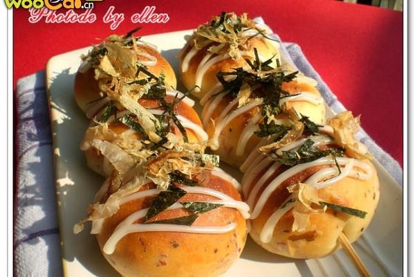 """美丽厨娘-""""章鱼小丸子""""面包的做法"""