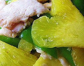 菠萝鸡片的做法