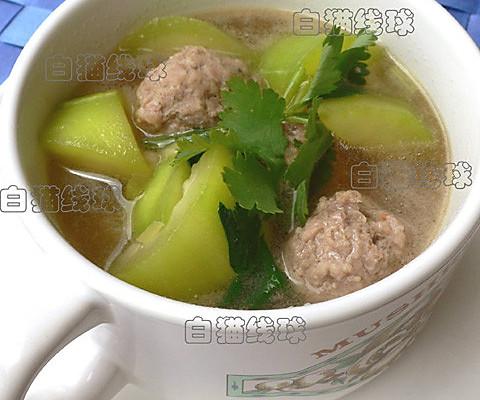 美容靓汤:瓠瓜汆丸子汤的做法