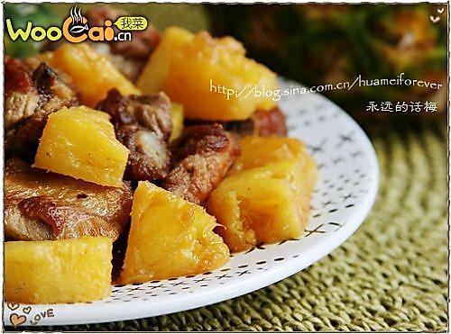 菠萝烧排骨的做法