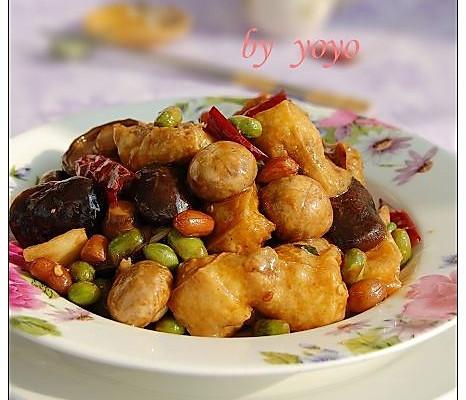 菇烧豆腐果的做法