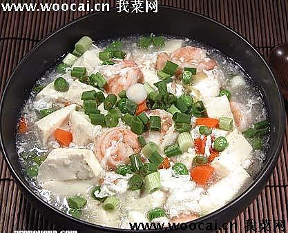 雪花虾仁豆腐羹的做法
