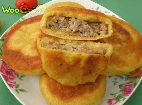 鲜肉韭黄煎馅饼的做法_【图解】鲜肉韭黄煎馅饼怎么做