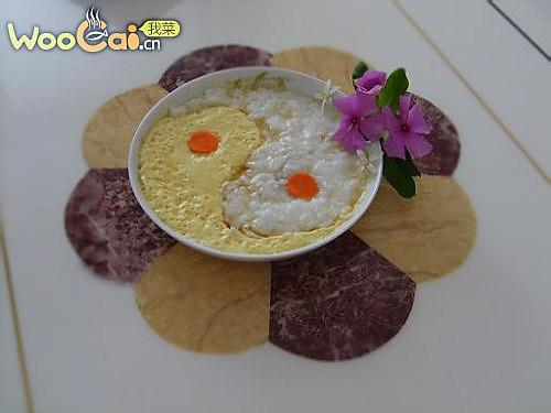 太极鱼茸鸡蛋羹的做法