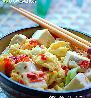 剁椒鸡蛋炒豆腐的做法
