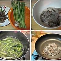 鲜虾百合芦笋的做法图解1