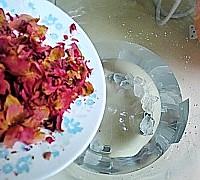 玫瑰花豆浆的做法图解4