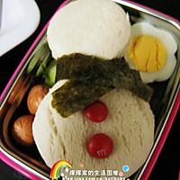 冷食午餐 - 圣诞雪人三明治的做法图解2