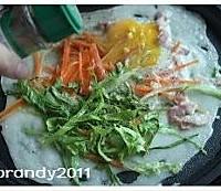蔬菜鸡蛋培根煎饼的做法图解5