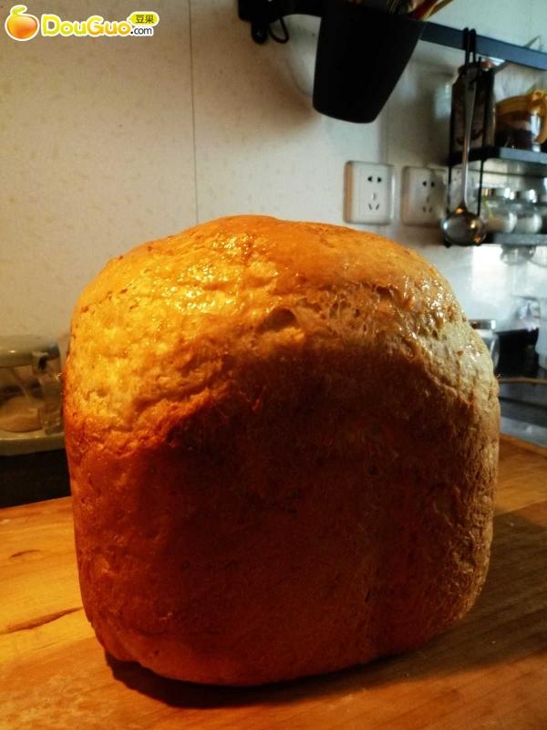 面包机版快速制作全麦面包的做法图解5