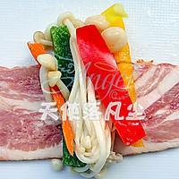 蜜汁培根彩蔬卷的做法图解4