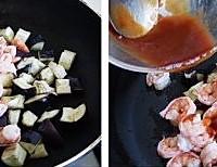 微波茄子烧虾球的做法图解9