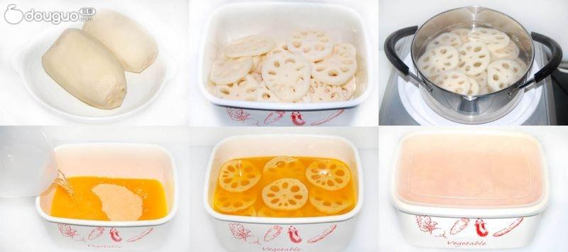 做法步骤 1. 果珍藕的制作过程