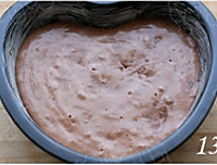 心形巧克力草莓蛋糕的做法图解14
