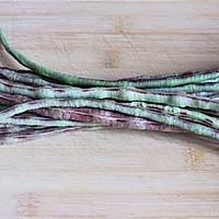 蒜泥炒豇豆的做法图解1