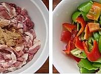 青椒炒鸭肉的做法图解1