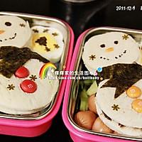 冷食午餐 - 圣诞雪人三明治的做法图解4