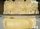 火腿芝士面包卷的做法图解7