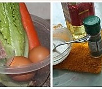 蔬菜鸡蛋培根煎饼的做法图解1