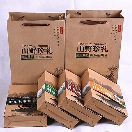 宋十财 山珍礼盒800g(榛蘑+红蘑+木耳+花菇)