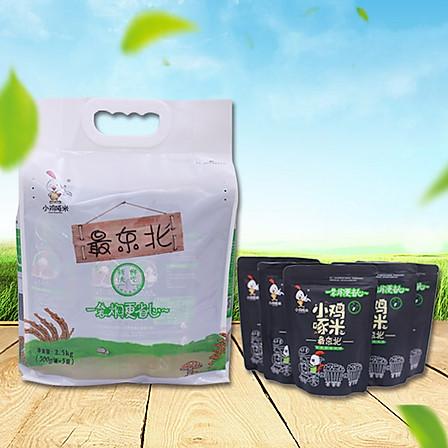 【17年新米】小鸡啄米 正宗东北五常自产大米0.5kg*5袋