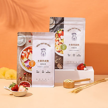 趣卡QUCAL水果酸奶燕麦片420g+坚果燕麦片420g