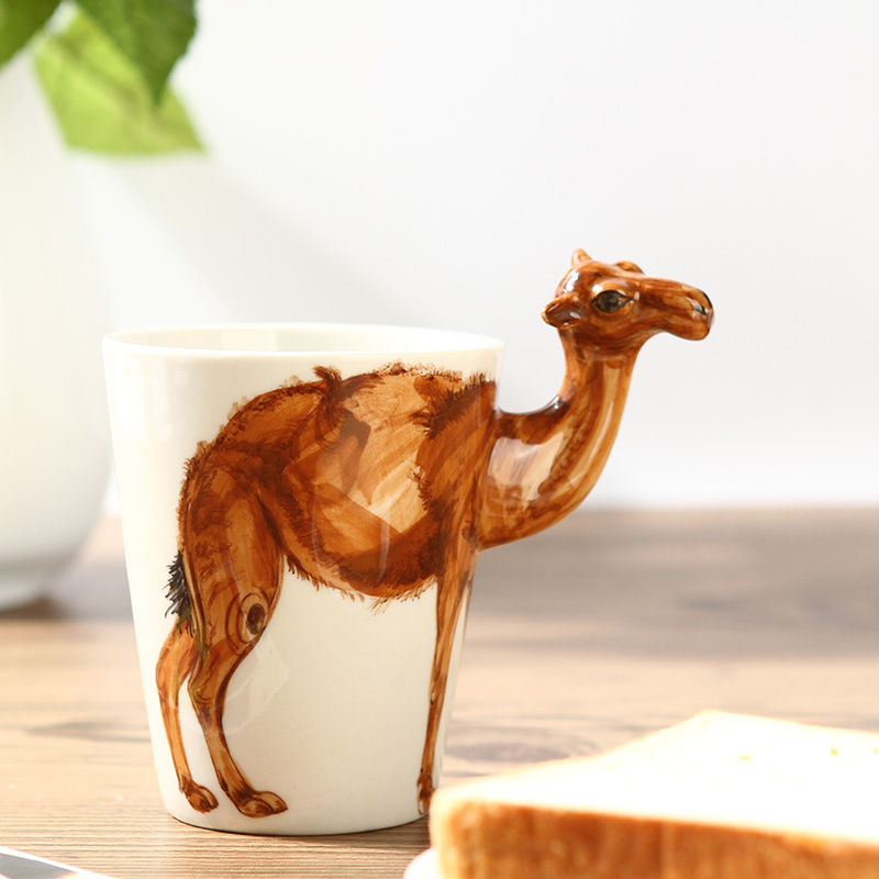 【趣玩】纯手绘陶瓷动物杯(骆驼款)